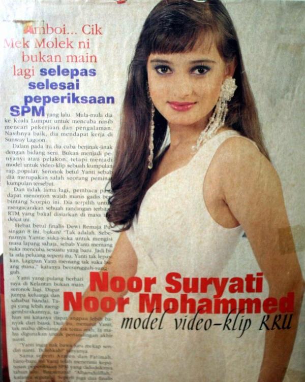 Noor Suryati pernah menjadi model video klip KRU